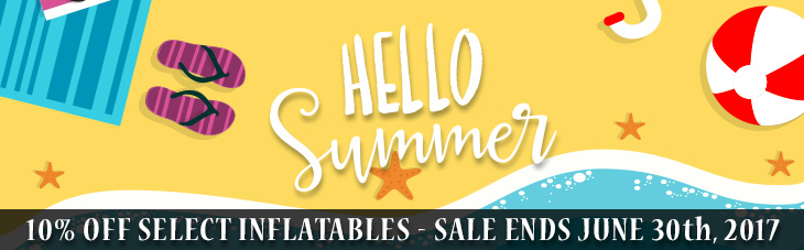 Inflatables 10% off Sale